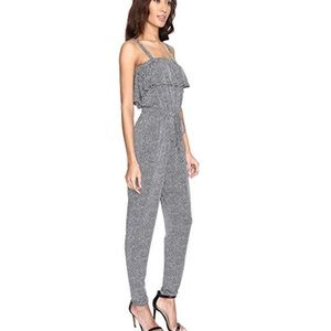 Michael Kors Women's Grey Cinch Waist Jumpsuit
